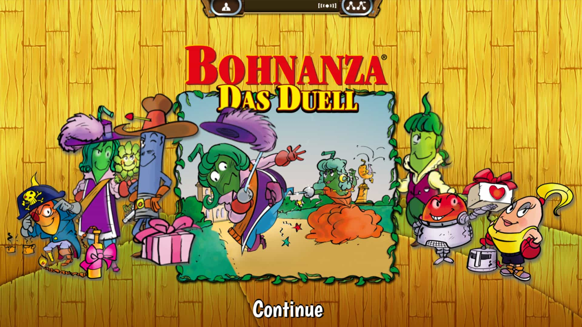 Bohnanza The Duel Splashscreen (2 player card game)