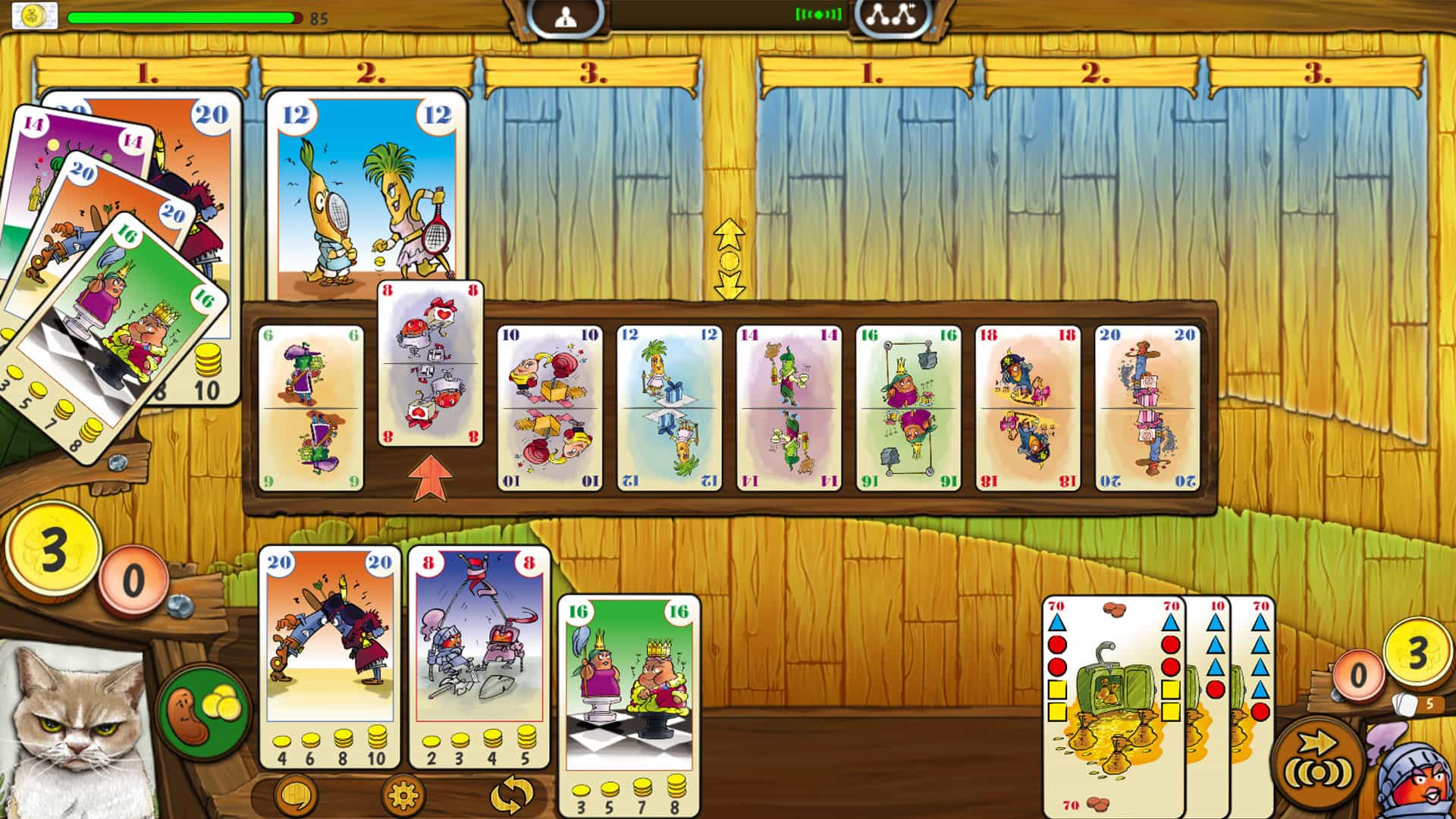 Bohnanza The Duel in game view (2 player card game)