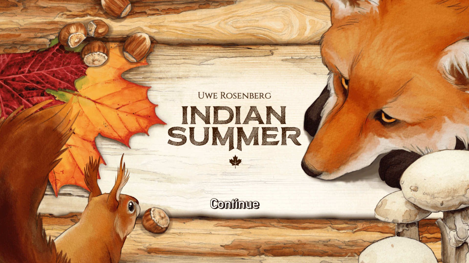 Indian Summer intro screen (2-4 player puzzle game)