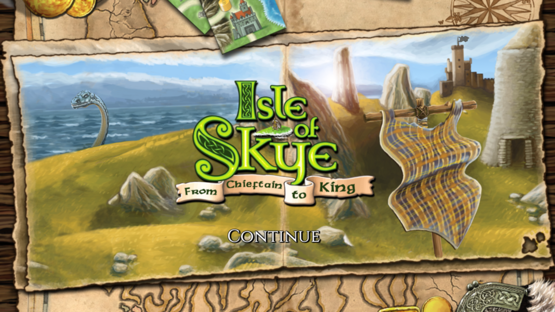 Isle of Skye Splashscreen (2-5 player strategy game)
