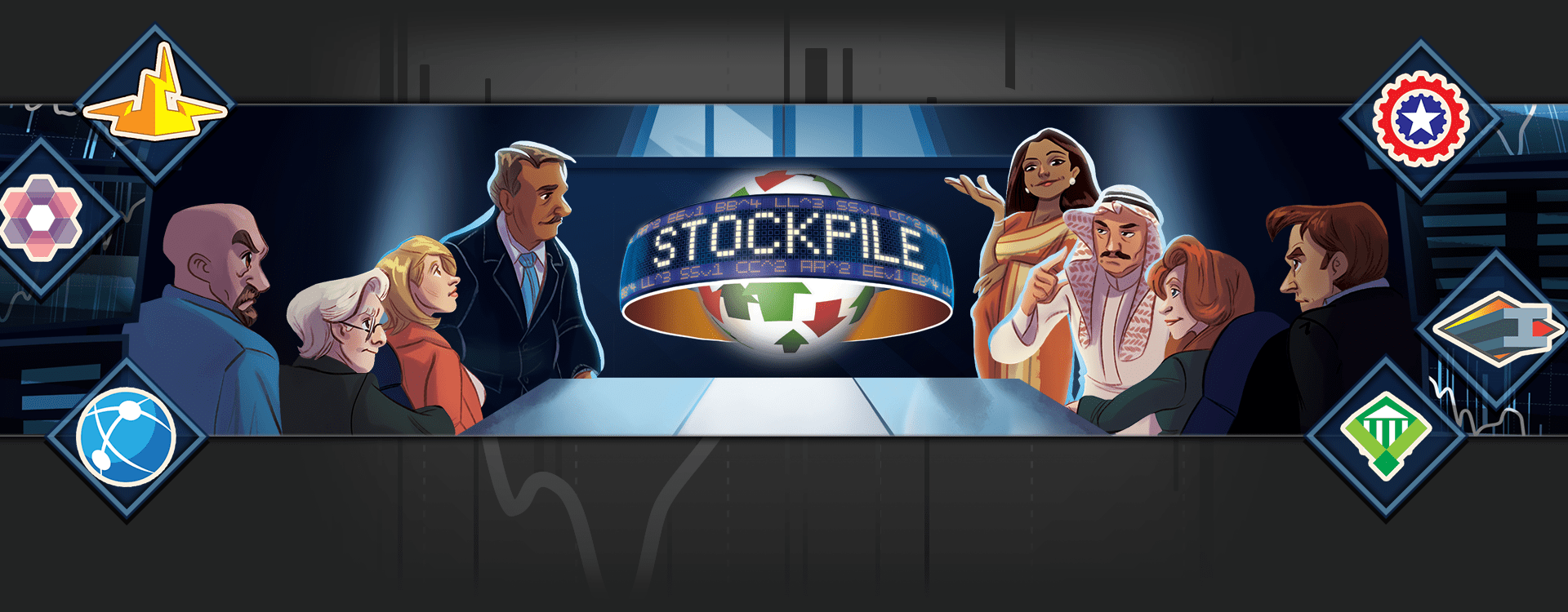 Stockpile header image (5 player family economics game)