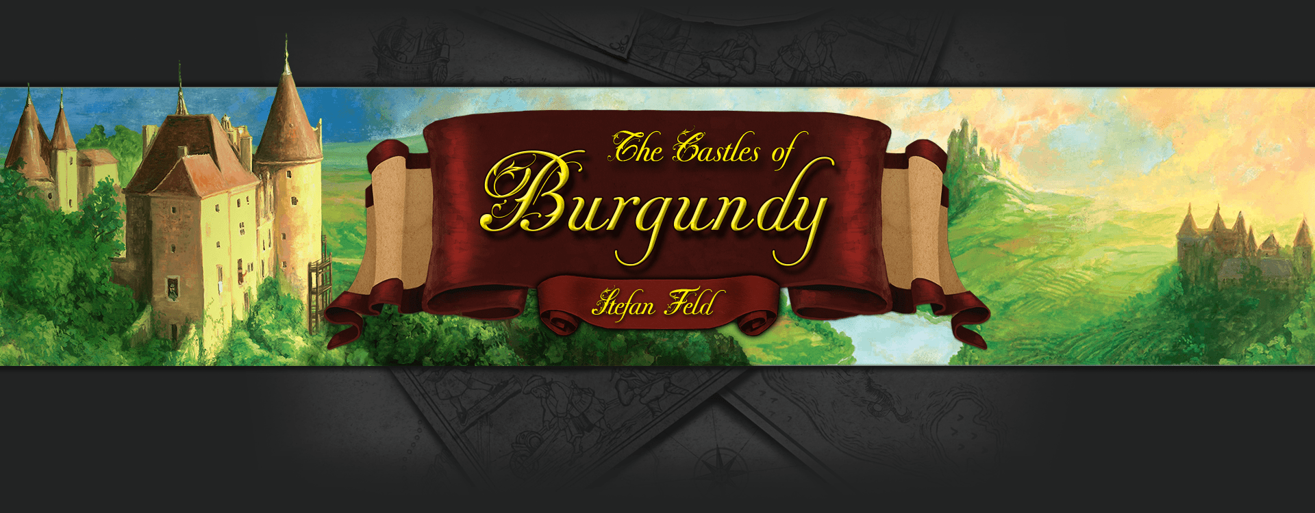 The Castles of Burgundy header image (4 player family euro game)