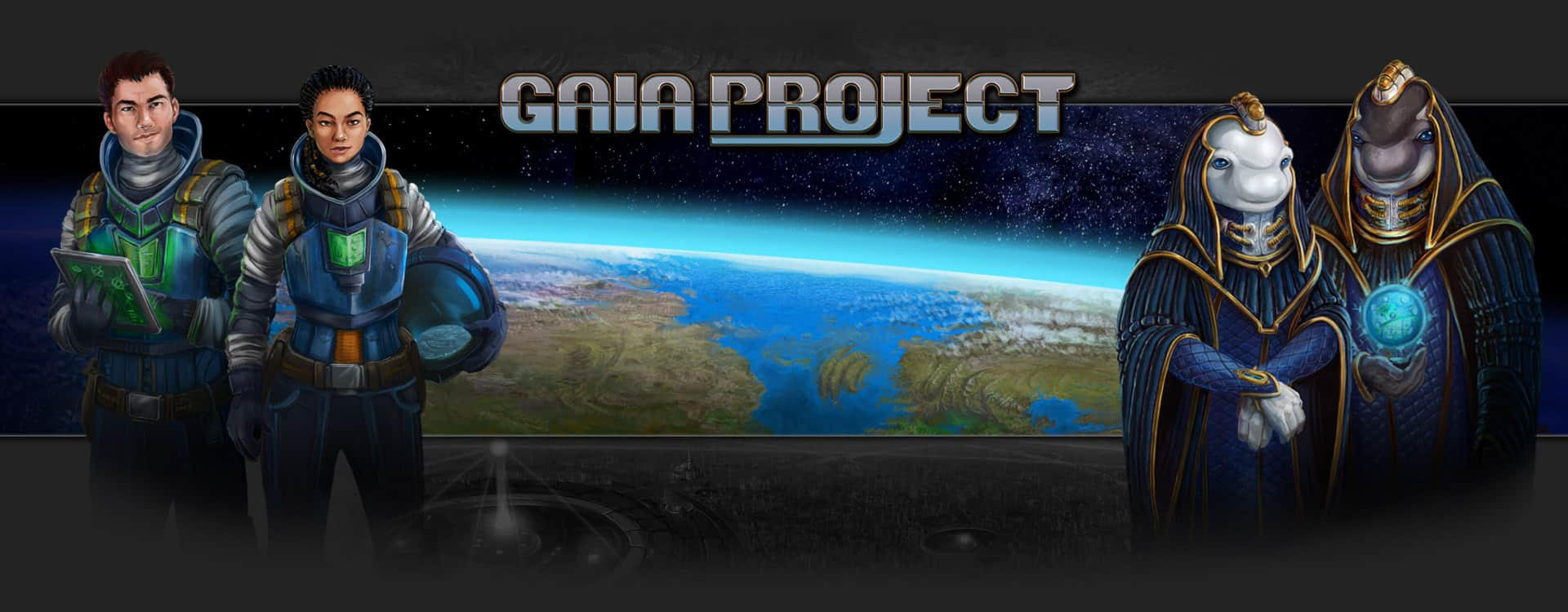Gaia Project header image (4 player family euro game)